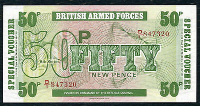 British Armed Forces  -  Fifty  Pence  Voucher