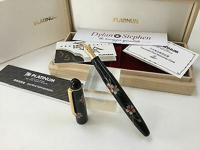 platinum Urushi lacquer maki-e Sakura cherry blossom design fountain pen NEW