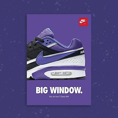 Nike Air Max Bw Persian Violet A2 Limited Edition Sneaker Poster Art