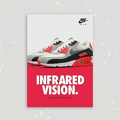 Nike Air Max 90 Infrared Og A2 Limited Edition Sneaker Poster Art