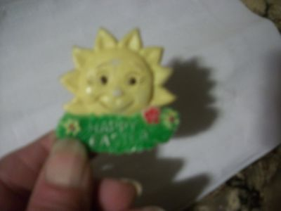 19.70's EASTER brooch-great old and odd pc.plstc.celluloid?