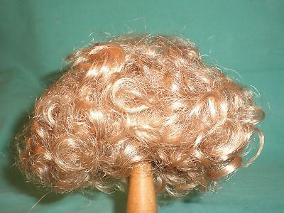"""doll wig blond 10"""" to 11"""" curly haircut/ Starlight"""