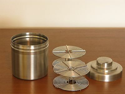 Vintage  Tundra Stainless Steel 35mm Developing Tank with 2 Reels
