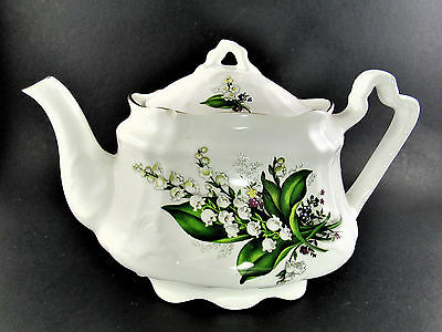 Vintage Arthur Wood Stafforshire England Teapot 6729 Lily Of The Valley England