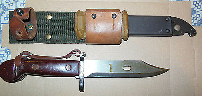 AK 47 Military Bayonet w/ Scabbard/ cutter - Matching Serial Numbers - NICE!!!