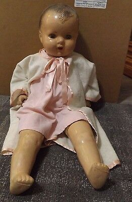 "Old  BABY DOLL  approx. 23"",  OPEN MOUTH W/ TEETH"