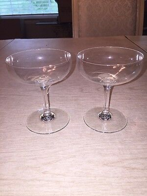 Beautiful set of 2 Baccarat Crystal Champagne Glasses
