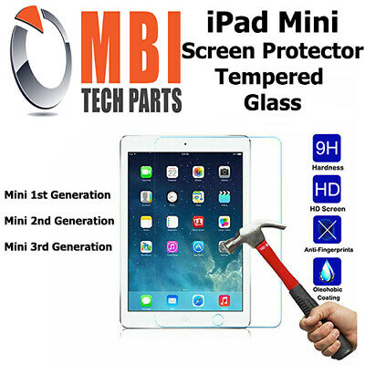 iPad Mini 1 2 3 Tempered Glass Screen Protector Clear Film Plastic Cover 9H