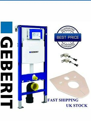 GEBERIT UP320 DUOFIX 1.12m WC TOILET FRAME AND CISTERN + WALL BRACKETS + MAT NEW