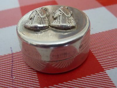 Vintage Egyptian Solid silver Pill box Hallmarked.