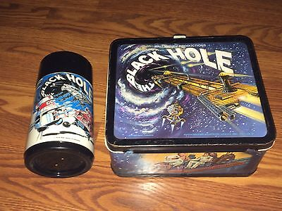 Vintage Disney 1979 Aladdin The Black Hole Metal Lunchbox With Matching Thermos