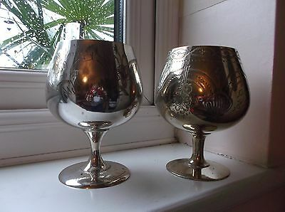Silver plated GOBLET x 2