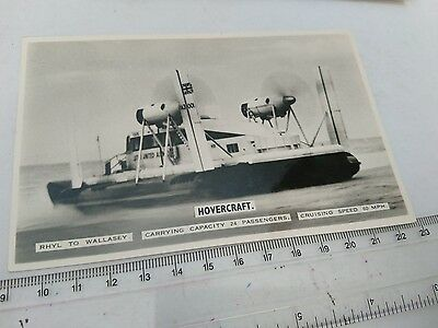 """Vintage RP Photograph Postcard """"Hovercraft, Rhyl to Wallasey"""""""