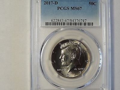 2017 D Kennedy Half Dollar PCGS MS67 Business Strike 50 cent