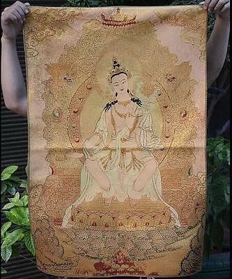Old Chinese Silk paper Painting Song dynasty General Yangjiajiang Scroll