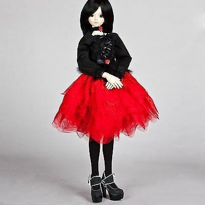 New Red&Black Dress/Necklace/Accessories/Outfit 1/3 SD DOD BJD Doll