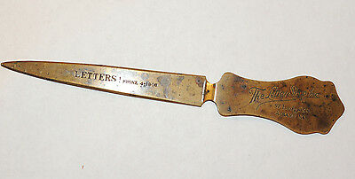 Brass Letter Opener over 7 inches long marked The Letter Shop Albany NY (12482)