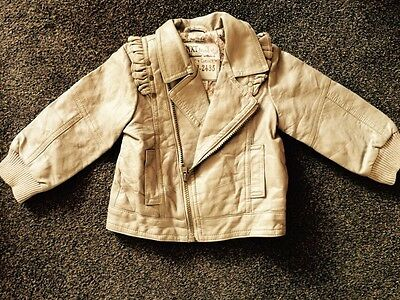 Next Faux Leather Jacket Girls 12-18 Months