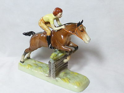Vintage Beswick Girl On Jumping Horse No 939