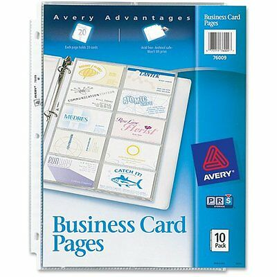 Avery Business Sheet Protectors Card & Photo Sleeves Card Pages, Pack (76009)