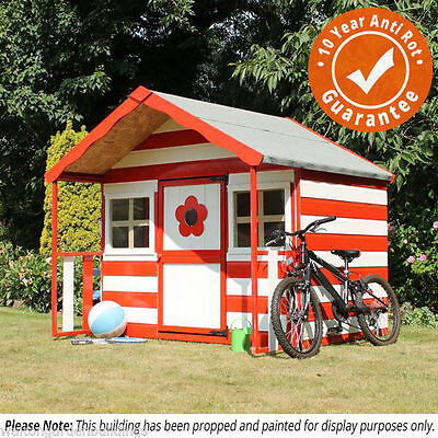 Childrens Wooden Playhouse 6 x 5 Honeysuckle - T&G, Safety Tested,  Wendy House