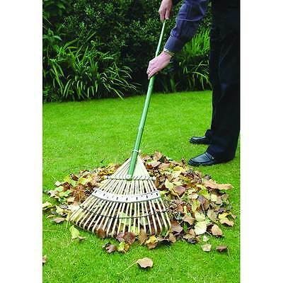 Bosmere New Leaf Gardening Tool Tine Landscape Outdoor Flexrake Bamboo Lawn Rake