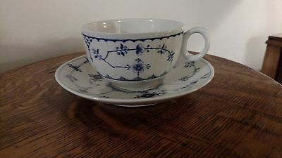 Pair Royal Copenhagen Saucers with English Cups