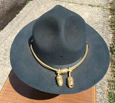 Old Vintage State Trooper Police Hat Stratton Size 7 Indiana??