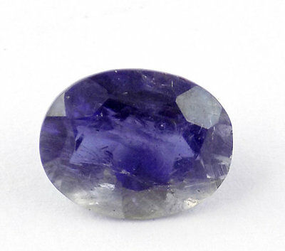1 Piece Natural Iolite Oval Shape 9x12mm 4.17Cts Normal Cut Handmade Gemstone