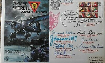 RAF Escaping society cover signed Secret Army cast.