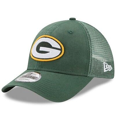 Green Bay Packers New Era 9Forty Trucker Washed Adjustable Cap.