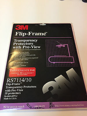 3M Flip-Frame Transparency Protectors RS7110/10 ~ (20) in package See Photos