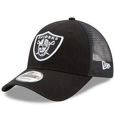 Oakland Raiders New Era 9Forty Trucker Washed Adjustable Cap.