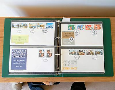 48 First Day Covers in Stanley Gibbons Album - 1979 to 1982