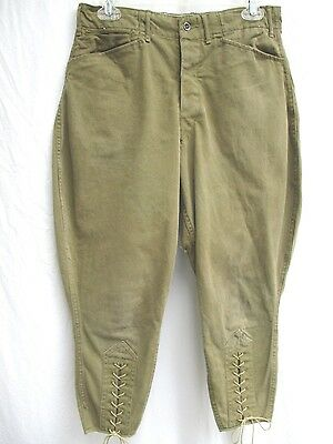 "VTG 30'S..BOY SCOUT..PANTS..w LACES..METAL BUTTONS..30"" X 23"""
