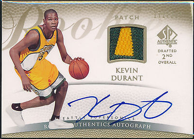 Kevin Durant 2007-08 Upper Deck Sp Authentic Rookie Auto & Jersey Serial /299