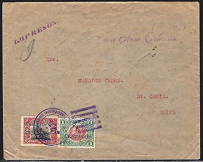 Guatemala 1916 Cover With Provisionals To Switzerland Censored In France