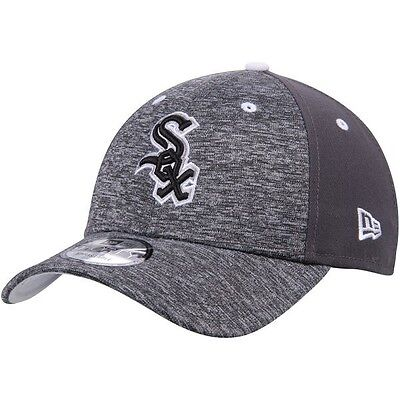 Chicago White Sox New Era 9Forty Shadow Adjustable Cap - Heather Grey/Graphite