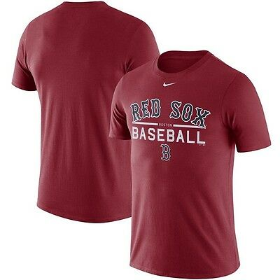 Mens Boston Red Sox Nike Practice T-Shirt  Red, L