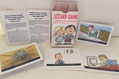 The Know Trouble Card Game From Dettol All Cards Present Including Instructions