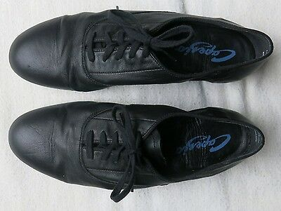 Capezio Black Leather BR65 Mens Standard Oxford Dance Shoes, Size 10 W