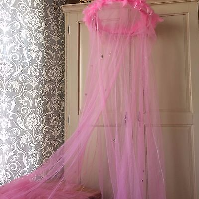 Pink Mosquito Net with Sparkles
