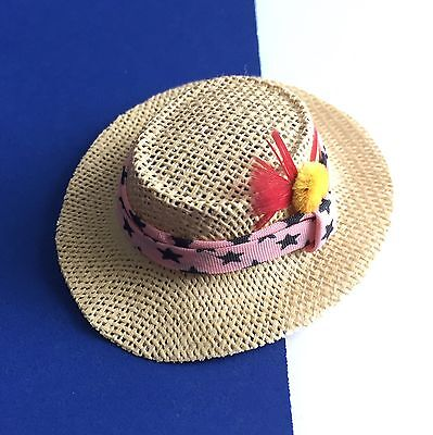 Vintage Ken Dreamboat REPRODUCTION Straw Hat #785  REPRO 2006