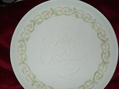 Vintage Love's Remembrance  HAPPY 50th ANNIVERSARY Plate