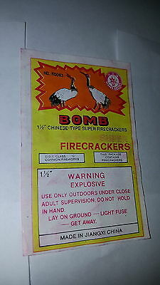 Bomb  Firecracker Original Label Only 1 (Class 5)