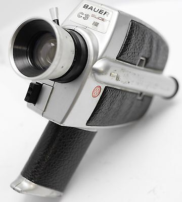 Rare - Bauer C3 Super 8 Movie Film Camera w/ Vario 10.5-32mm F1.8 Zoom Lens READ