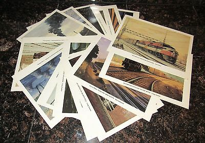 NEW HAVEN RAILROAD PRINTS 16 Color NH Staufer Train  FREE SHIPPING