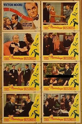 THIS MARRIAGE BUSINESS, 1938, Victor Moore, comedy, U.S. 11 x 14 Lobby Card Set*
