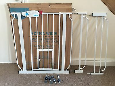 Extra Wide Extendable Baby Dog Pet Gate