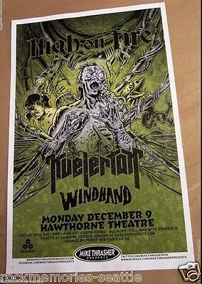 High On Fire and Kvelertak & Windhand 2013 Concert Show Poster